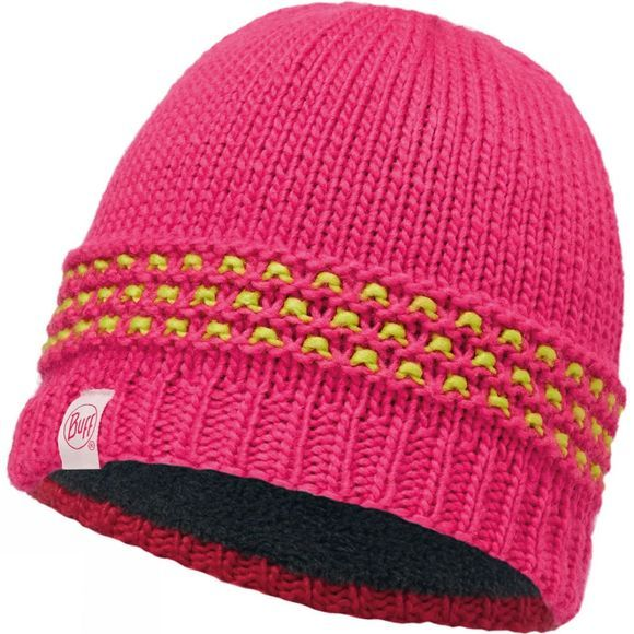 Buff Childrens Knitted and Polar Hat Beanie