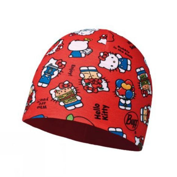 Childrens Microfiber and Polar Hat Hello Kitty