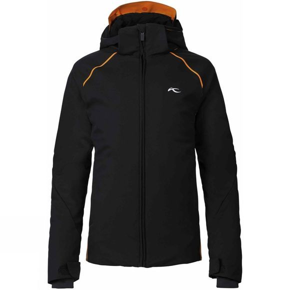 KJUS Boy's Formula Jacket Black/ K Orange