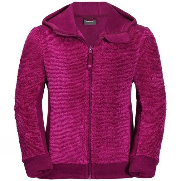 Jack Wolfskin Pine Cone Jacket Girls Fuchsia Stripes