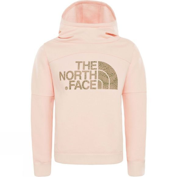 The North Face Girls Drew Peak Hoodie Pink Salt