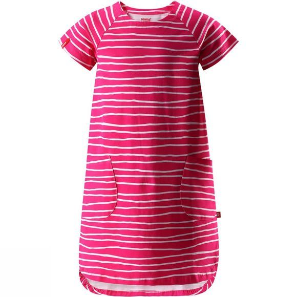 Reima Girls Hav Dress PINK STRIPE PRINT