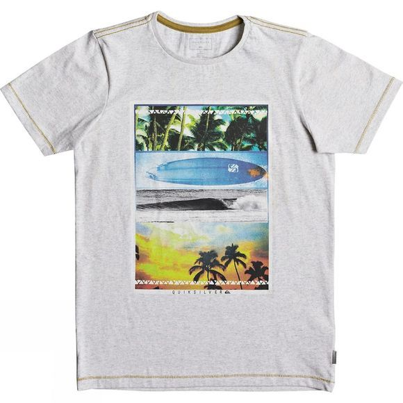 Quiksilver Kids Place To Be Heather SS Tee Snow White Heather