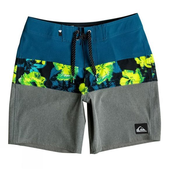 Boy's Panel Blocked Vee Youth Board Shorts