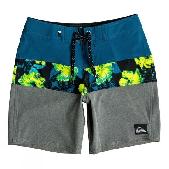 Quiksilver Boys Panel Blocked Vee Youth Board Short 14+ Moroccan Blue