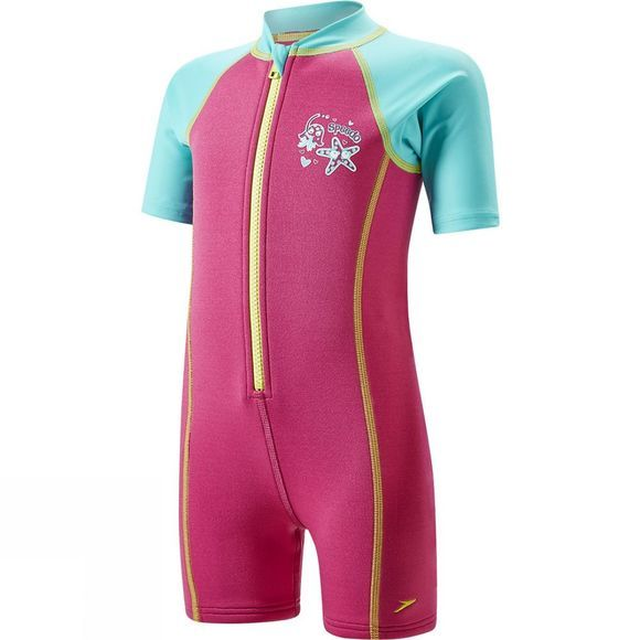 Speedo Kids Seasquad Hot Tot Suit Vegas Pink/ Bali Blue