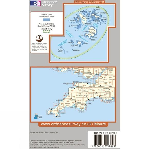 Explorer Map 101 Isles of Scilly
