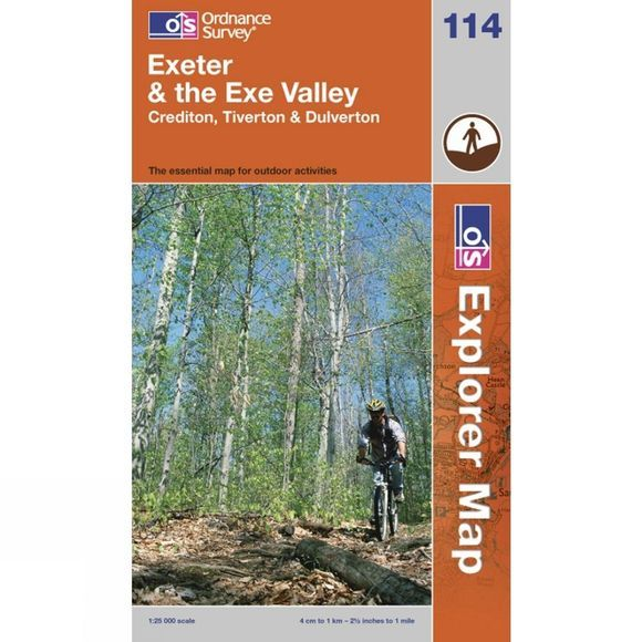 Ordnance Survey Exeter & The Exe Valley 1:25 000 .