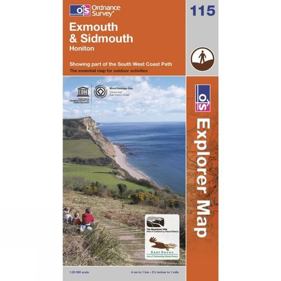 Ordnance Survey Exmouth & Sidmouth 1:25 000 .