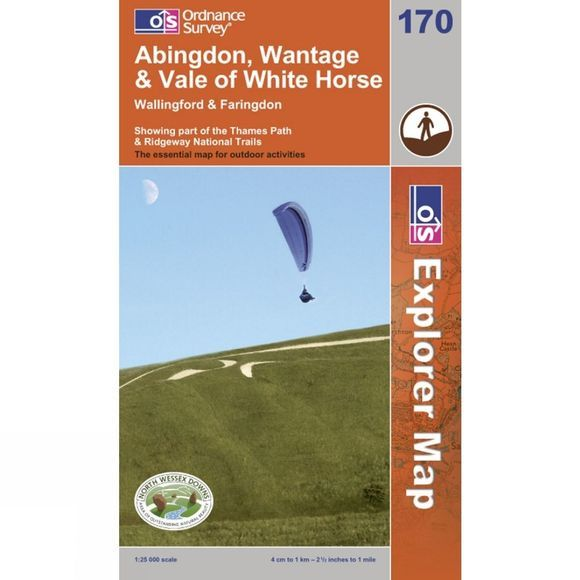 Ordnance Survey Explorer Map 170 Vale of White Horse, Abingdon and Wantage .