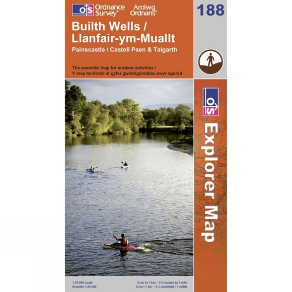 Explorer Map 188 Builth Wells