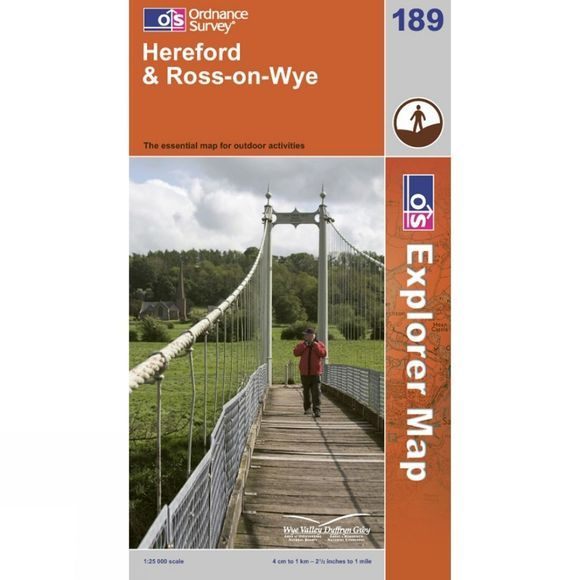 Ordnance Survey Explorer Map 189 Hereford and Ross-on-Wye .