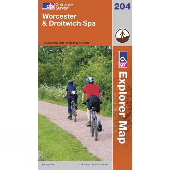 Ordnance Survey Explorer Map 204 Worcester and Droitwich Spa .