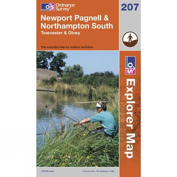 Explorer Map 207 Newport Pagnell and Northampton South