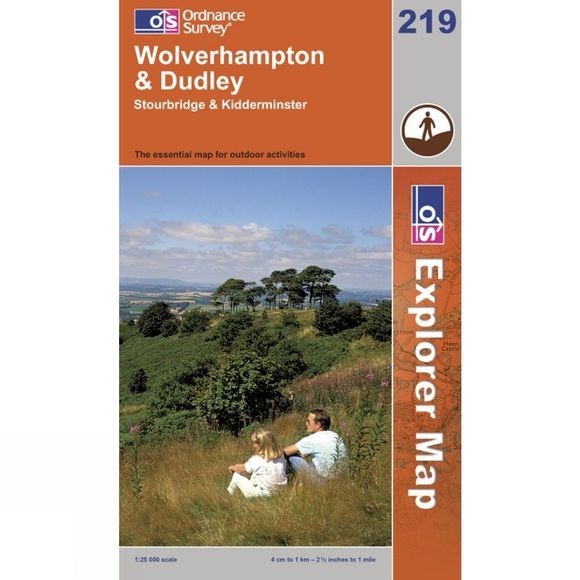 Ordnance Survey Explorer Map 219 Wolverhampton and Dudley .