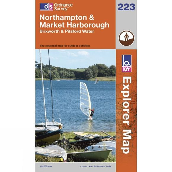 Explorer Map 223 Northampton and Market Harborough