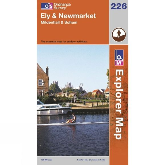 Ordnance Survey Explorer Map 226 Ely and Newmarket .