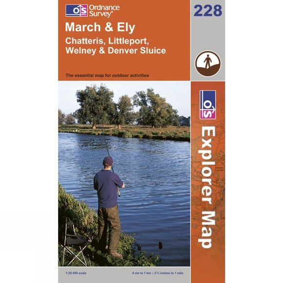 Ordnance Survey Explorer Map 228 March and Ely .