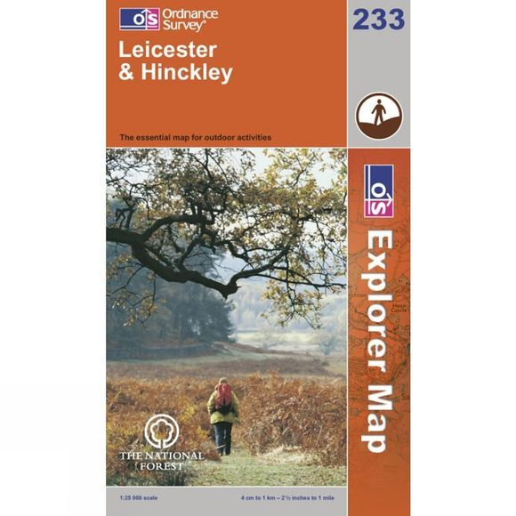 Explorer Map 233 Leicester and Hinckley