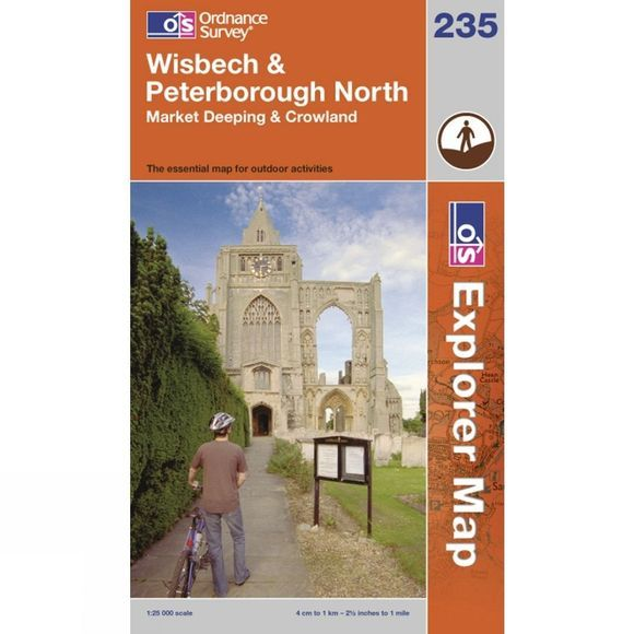 Ordnance Survey Explorer Map 235 Wisbech and Peterborough North .