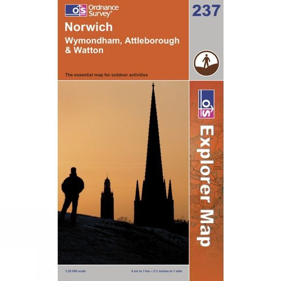 Ordnance Survey Explorer Map 237 Norwich .