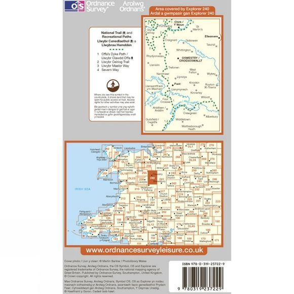 Ordnance Survey Explorer Map 240 Oswestry .