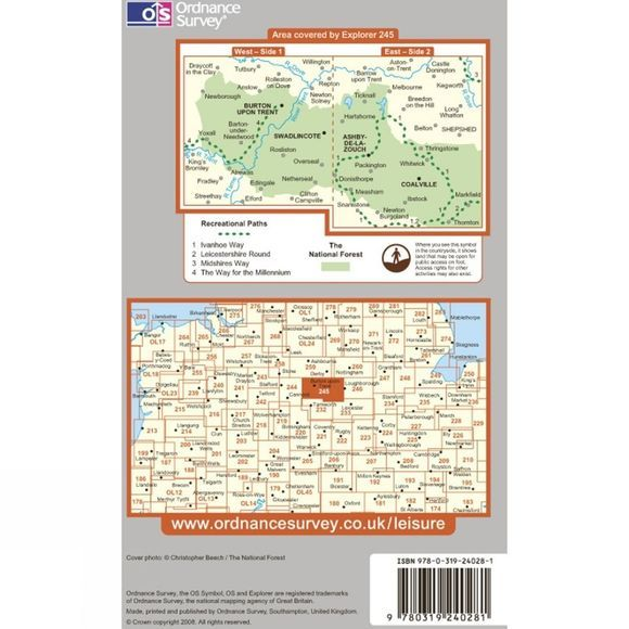 Explorer Map 245 The National Forest