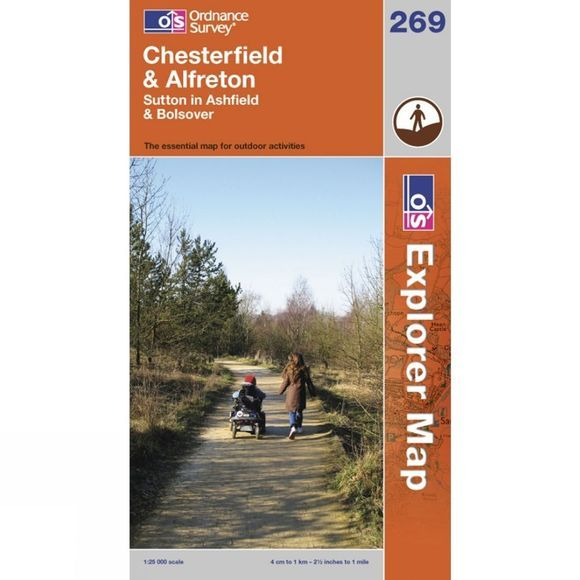 Explorer Map 269 Chesterfield and Alfreton