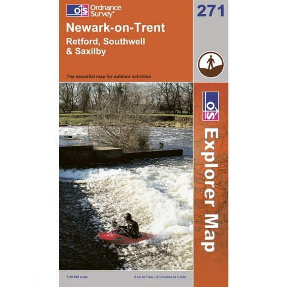 Ordnance Survey Explorer Map 271 Newark-on-Trent .