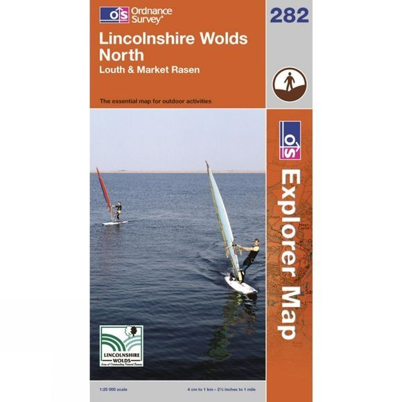 Ordnance Survey Explorer Map 282 Lincolnshire Wolds North .