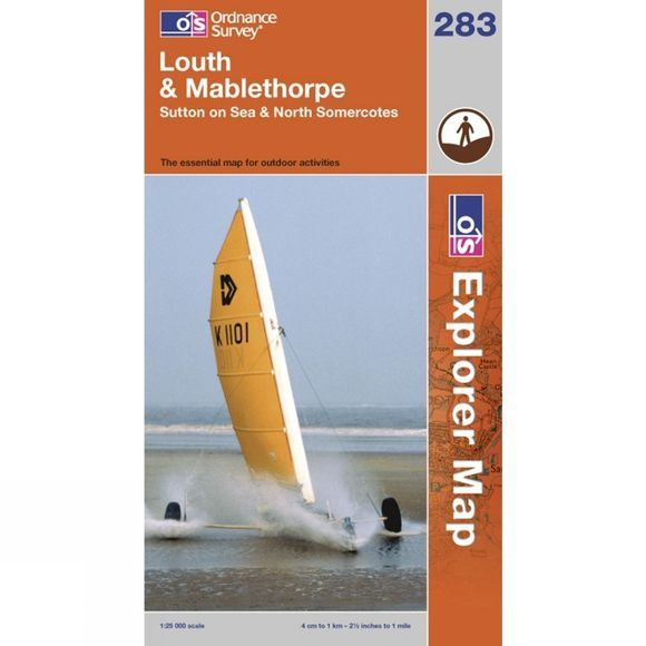 Ordnance Survey Explorer Map 283 Louth and Mablethorpe .