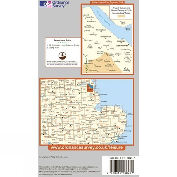 Ordnance Survey Explorer Map 284 Grimsby, Cleethorpes and Immingham .
