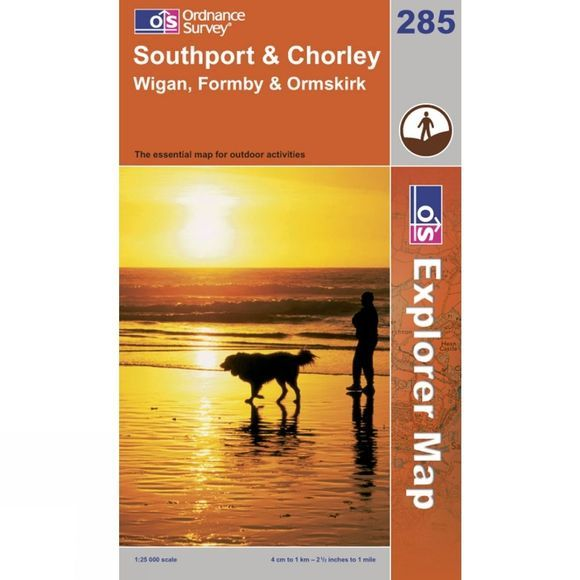 Ordnance Survey Explorer Map 285 Southport and Chorley .