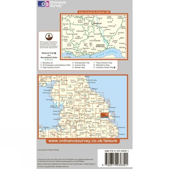 Ordnance Survey Explorer Map 293 Kingston upon Hull and Beverley .