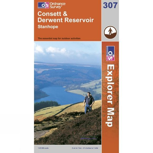 Explorer Map 307 Consett and Derwent Reservoir