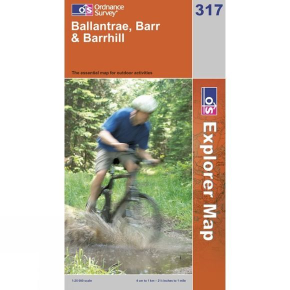 Ordnance Survey Explorer Map 317 Ballantrae, Barr and Barrhill .