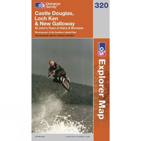 Ordnance Survey Explorer Map 320 Castle Douglas, Loch Ken and New Galloway .