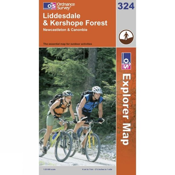 Ordnance Survey Explorer Map 324 Liddesdale and Kershope Forest .