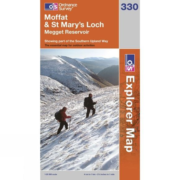 Ordnance Survey Explorer Map 330 Moffat and St Mary's Loch .