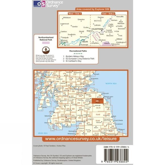 Ordnance Survey Explorer Map 339 Kelso, Coldstream and Lower Tweed Valley .