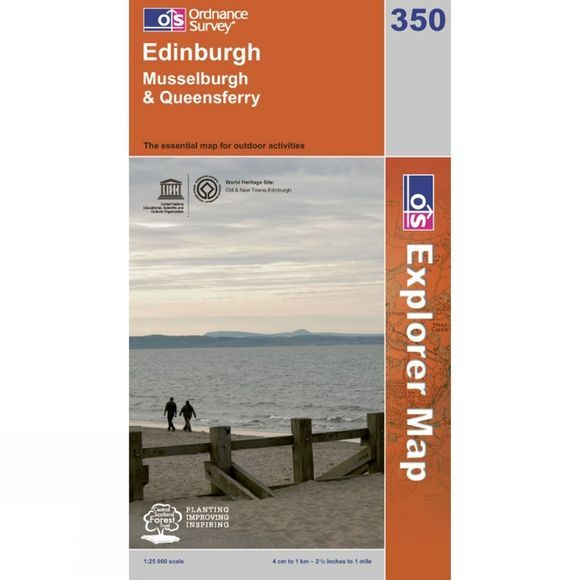 Ordnance Survey Explorer Map 350 Edinburgh .