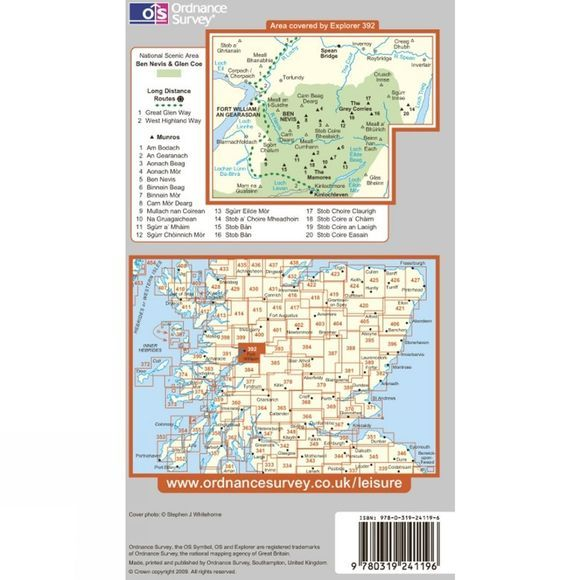 Ordnance Survey Ben Nevis, The Mamores & Grey Corries .