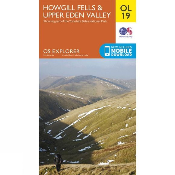 Ordnance Survey Explorer Map OL19 Howgill Fells and Upper Eden Valley V15