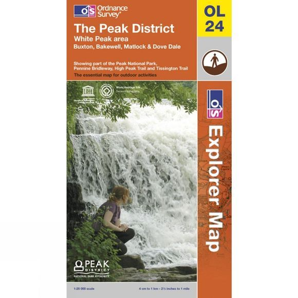 Ordnance Survey Peak District - White Peak Area .