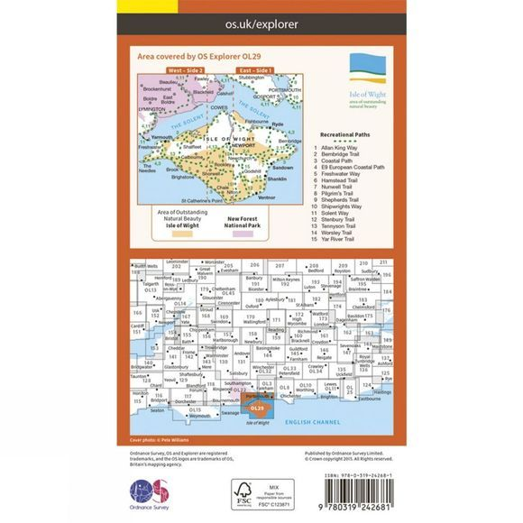 Ordnance Survey Isle Of Wight V15