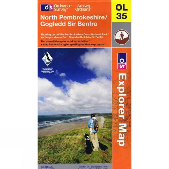 Ordnance Survey Explorer Map OL35 North Pembrokeshire V13