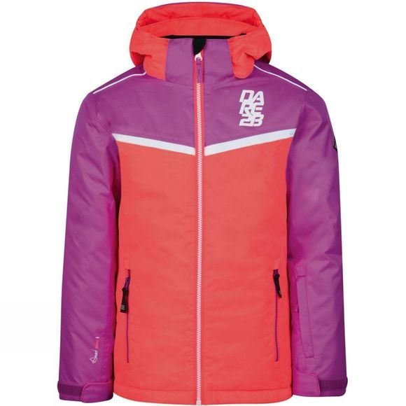 Dare 2 b Kids Start Out Jacket Fiery Coral/Ultraviolet Purple
