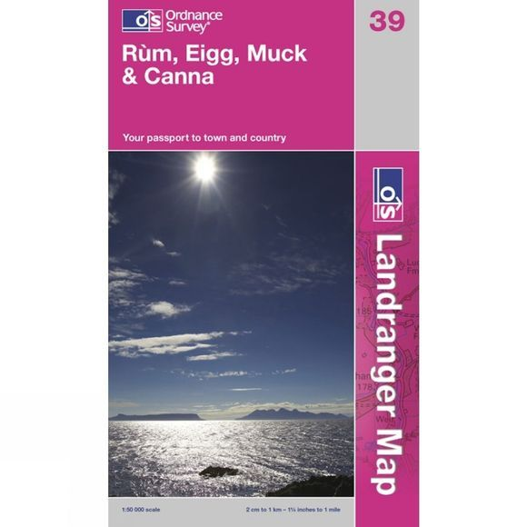 Ordnance Survey Landranger Map 39 Rum, Eigg, Muck and Canna .