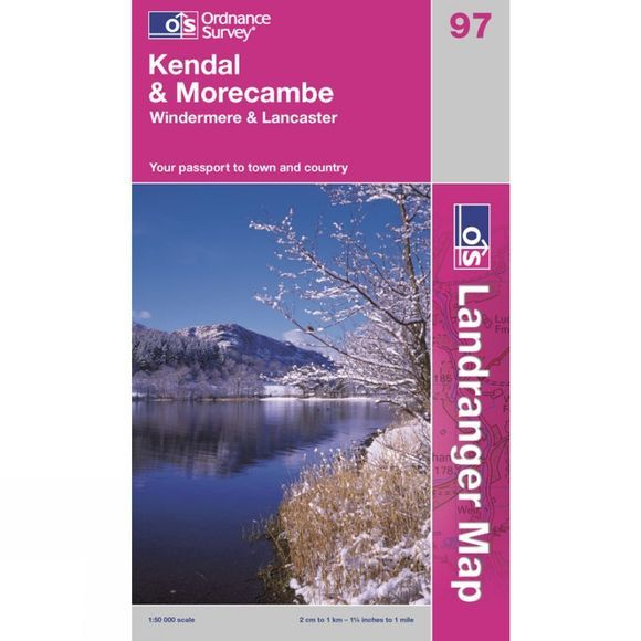 Ordnance Survey Landranger Map 97 Kendal and Morecambe V13