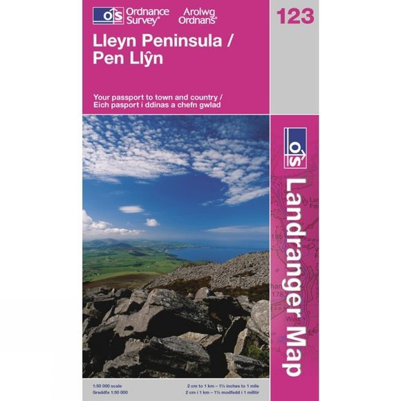 Ordnance Survey Landranger Map 123 Lleyn Peninsula .